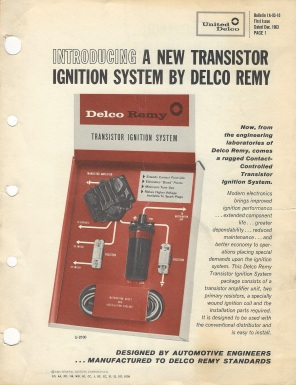Delco Remy High Performance Ignition Systems