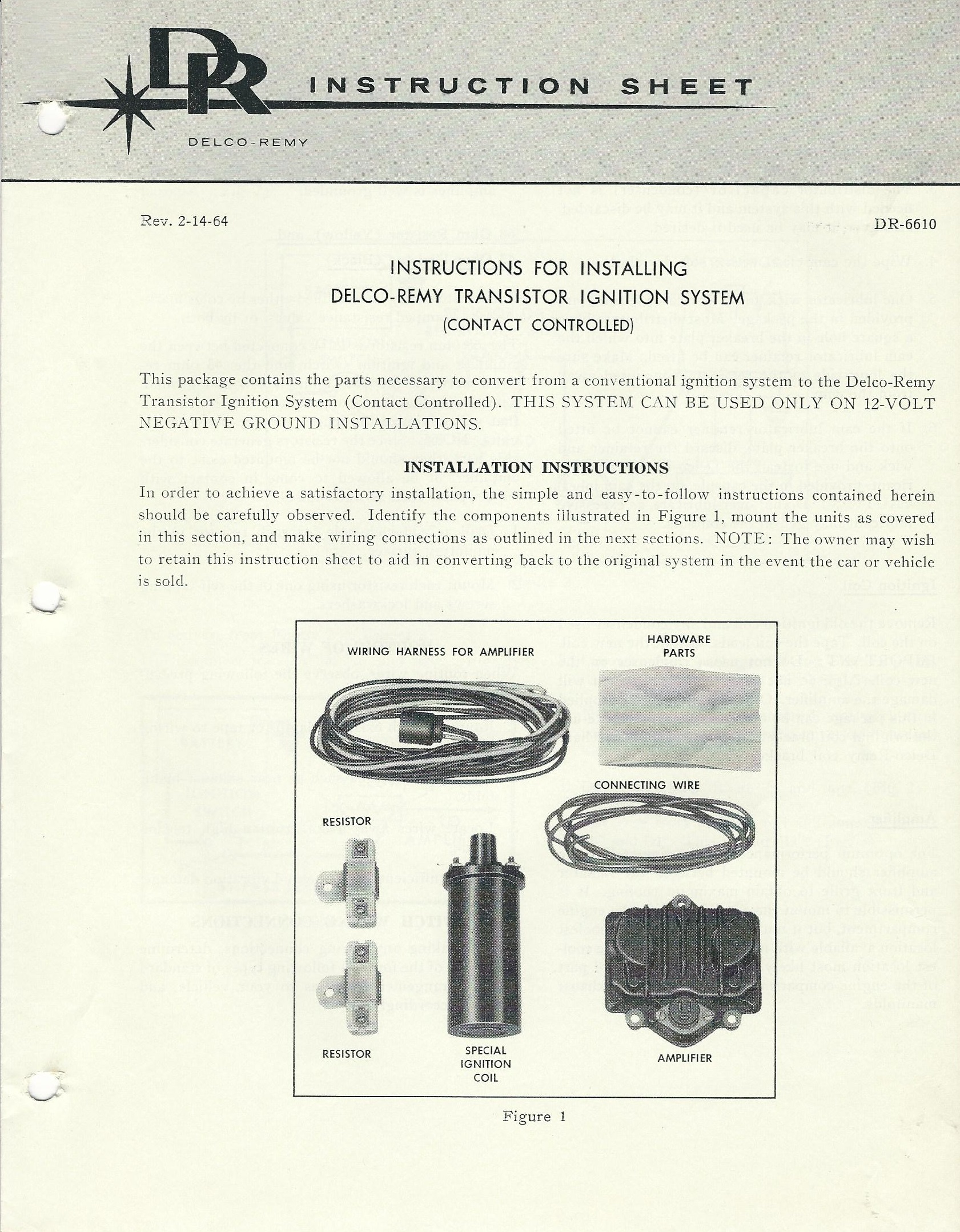 TI-ContactControlled-InstalInstructions  sc 1 th 254 : delco remy distributor wiring - yogabreezes.com
