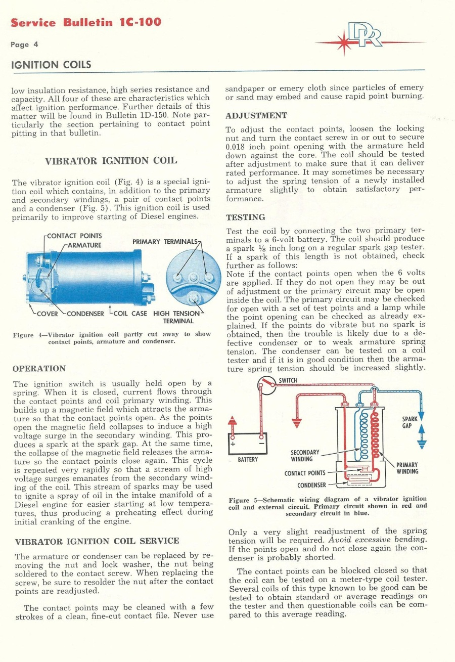 Delco Remy High Performance Ignition Systems 1968 Camaro Coil Wiring Diagram Turbine Igniter Vibrating Contact Style 11